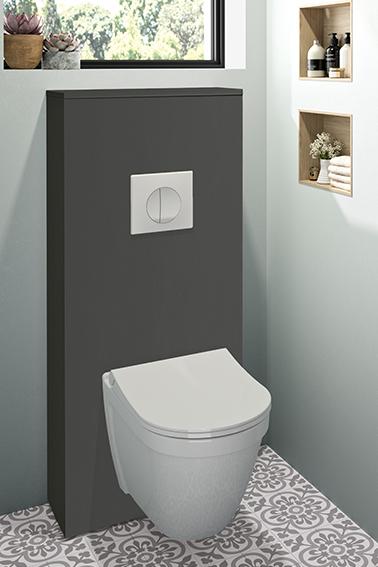 Néova - ESPACE WC Lave-mains et habillage bâti-support - Chêne Bardolino Naturel